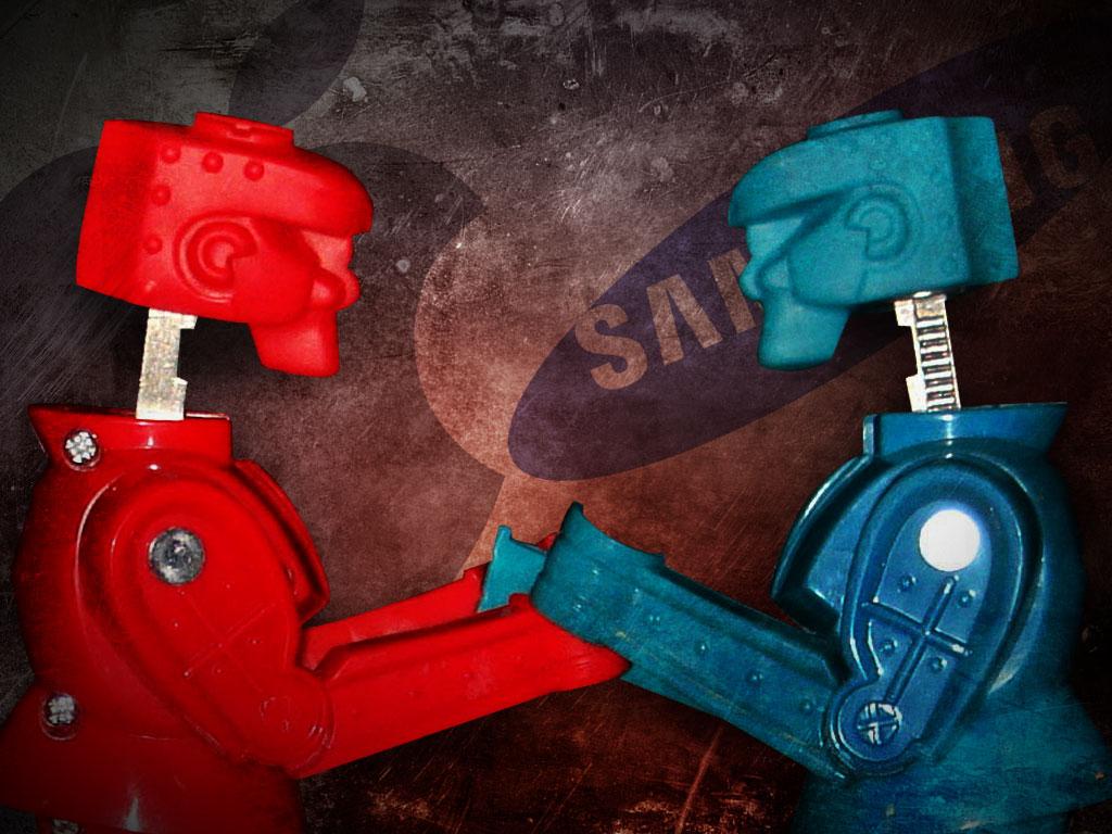 Apple Vs Samsung Rock Em Sock Em Robots